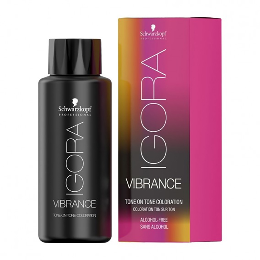 schwarzkopf professional igora vibrance violet red toner 9,5-98 semi permanent hair colour violet red toner 9,5-98 60ml
