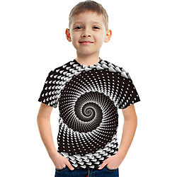 Kids Boys' Tee Graphic 3D Short Sleeve Active Black miniinthebox