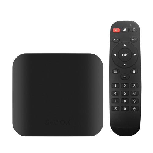 S-BOX Amlogic S905X TV Box KODI  Quad Core 64bit Android 6.0 4K HD 3D WiFi BT 4.0 DLNA HD- 2G+32G EU Plug