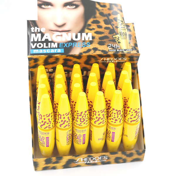 mascara makeup easy 24 pcs/lot mascara ultra-volumateur waterproof iber vltamln-e long lasting thick black 8217
