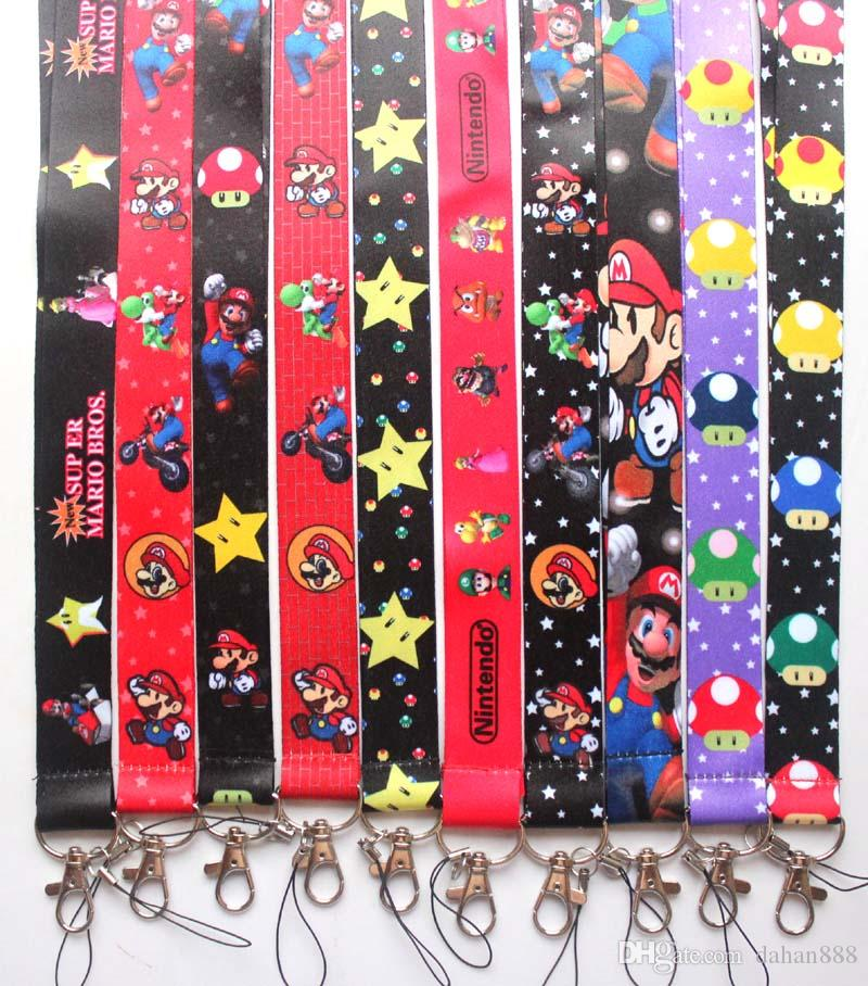 Wholesale 10 pcs Popular Cartoon Anime Mix boy girl love Mobile phone Lanyard Key Chains Pendant Party Gift Favors #91702