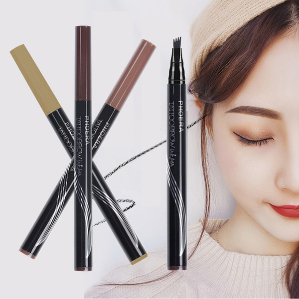 12pcs/lot phoera 3 colors high-end automatic matte eyebrow pencil waterproof eyebrow tattoo pen long-lasting cosmetic dropshipping tslm2