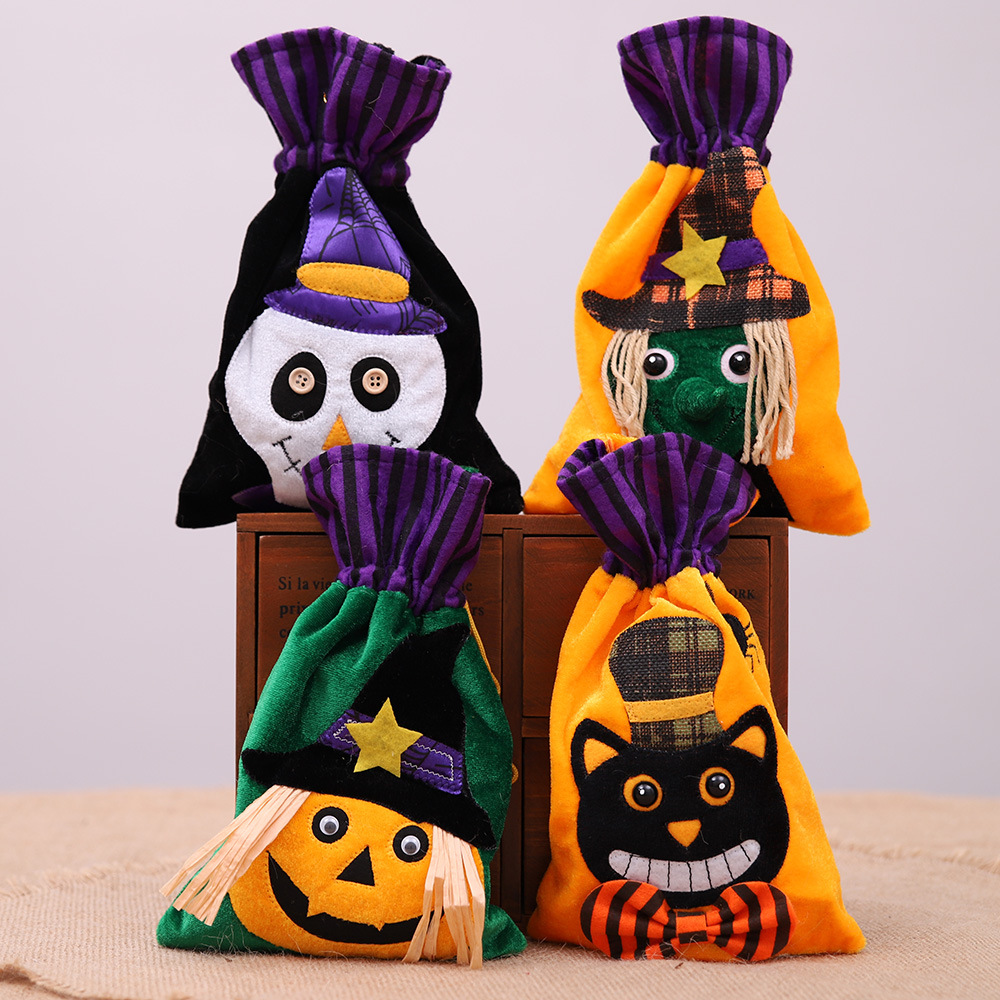 Halloween Non-woven Fabric Ghost Pumpkin Gift Bag Decor