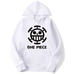 Inspired by One Piece Cosplay Hoodie Polyester / Cotton Blend Graphic Prints Printing Hoodie For Men's / Women's Lightinthebox