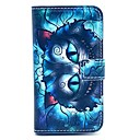 Retro Blue Cat Pattern PU Leather Full Body Case with Card Slot for Samsung Galaxy S3 Mini I8190